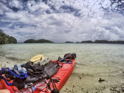 Kayak on Giant Clam Beach